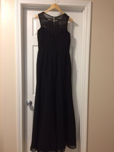 Bari Jay Black Chiffon 1462 Formal Bridesmaid/Mob Dress Size 8 (M) - item med img