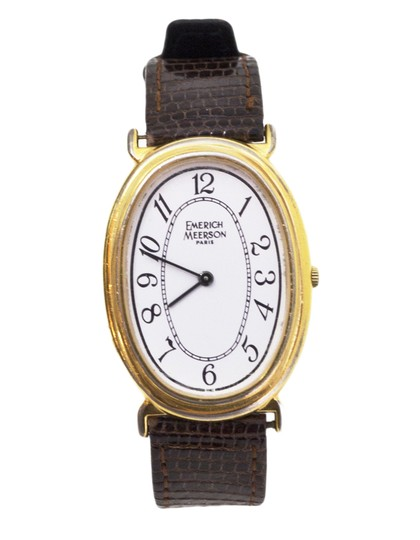Preload https://img-static.tradesy.com/item/23332763/brown-and-goldtone-lizard-and-gold-watch-0-0-540-540.jpg