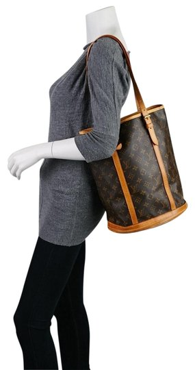 Preload https://item3.tradesy.com/images/louis-vuitton-bucket-handbag-brown-monogram-leather-shoulder-bag-23332772-0-1.jpg?width=440&height=440