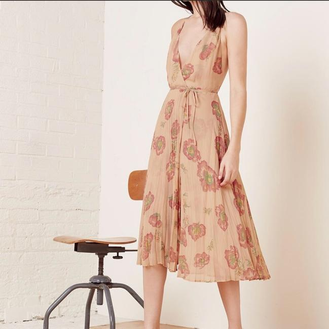 Cream, Red Maxi Dress by Reformation Image 1