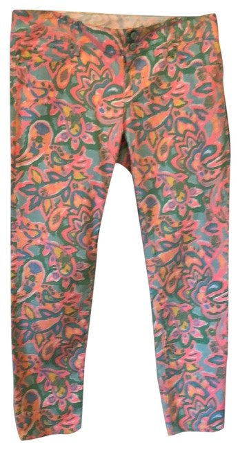 Preload https://item1.tradesy.com/images/lilly-pulitzer-coral-aqua-blue-and-yellow-print-light-wash-worth-skinny-mini-straight-leg-jeans-size-23332835-0-1.jpg?width=400&height=650