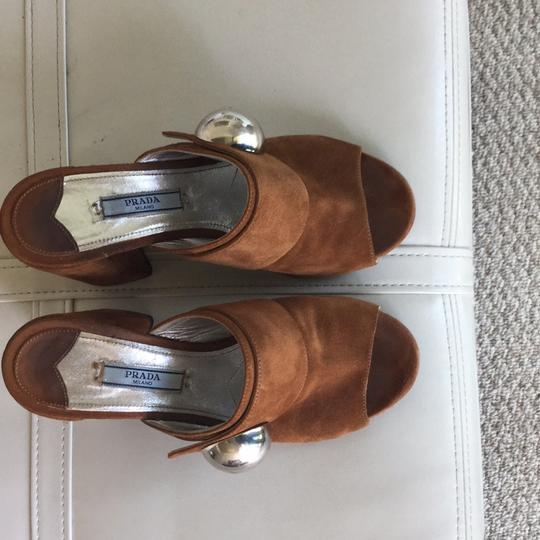 Prada Brown Mules