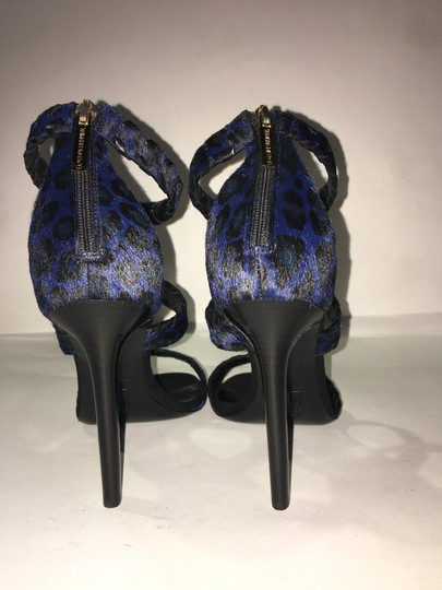 Tamara Mellon Blue/Black Sandals