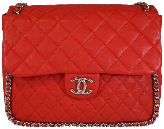 Preload https://item1.tradesy.com/images/chanel-chain-around-maxi-red-washed-lambskin-shoulder-bag-23332905-0-2.jpg?width=440&height=440