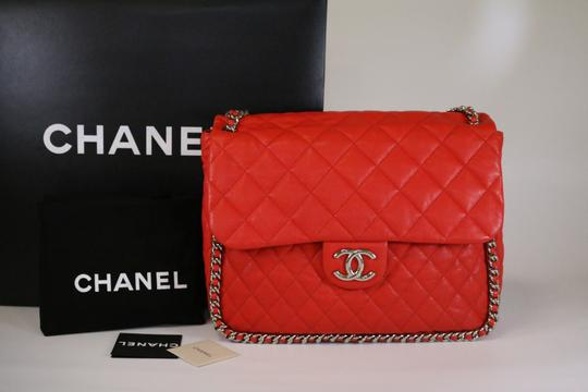Chanel Cam Chain Around Maxi Cam Chain Around Maxi Shoulder Bag