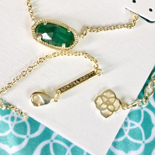 Kendra Scott Brand New Kendra Scott Elisa Necklace in Emerald Cat's Eye Glass