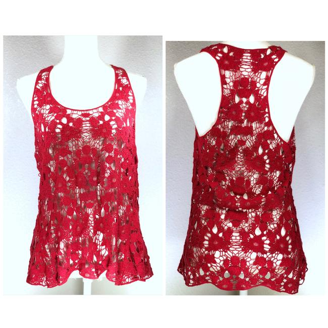 Preload https://img-static.tradesy.com/item/23332942/red-floral-open-crocheted-tank-topcami-size-6-s-0-0-650-650.jpg