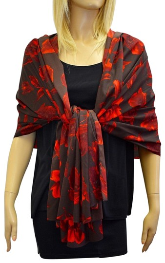 Preload https://img-static.tradesy.com/item/23332961/donna-karan-brownred-designer-silk-brownred-floral-shawlwrap-eb-scarfwrap-0-1-540-540.jpg