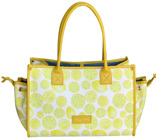 Preload https://item1.tradesy.com/images/dooney-and-bourke-and-lemon-printed-medium-perfect-for-summer-yellow-coated-cotton-tote-23333005-0-1.jpg?width=440&height=440