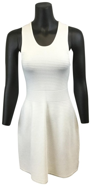 Preload https://item4.tradesy.com/images/parker-white-ribbed-fit-and-flare-medium-short-casual-dress-size-8-m-23333028-0-1.jpg?width=400&height=650