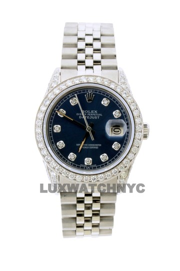 Rolex 4CT 36MM ROLEX DATEJUST S/S WATCH WITH BOX & APPRAISAL