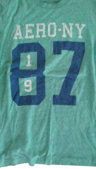 Preload https://item4.tradesy.com/images/aeropostale-green-blue-tee-shirt-size-2-xs-23333098-0-1.jpg?width=400&height=650