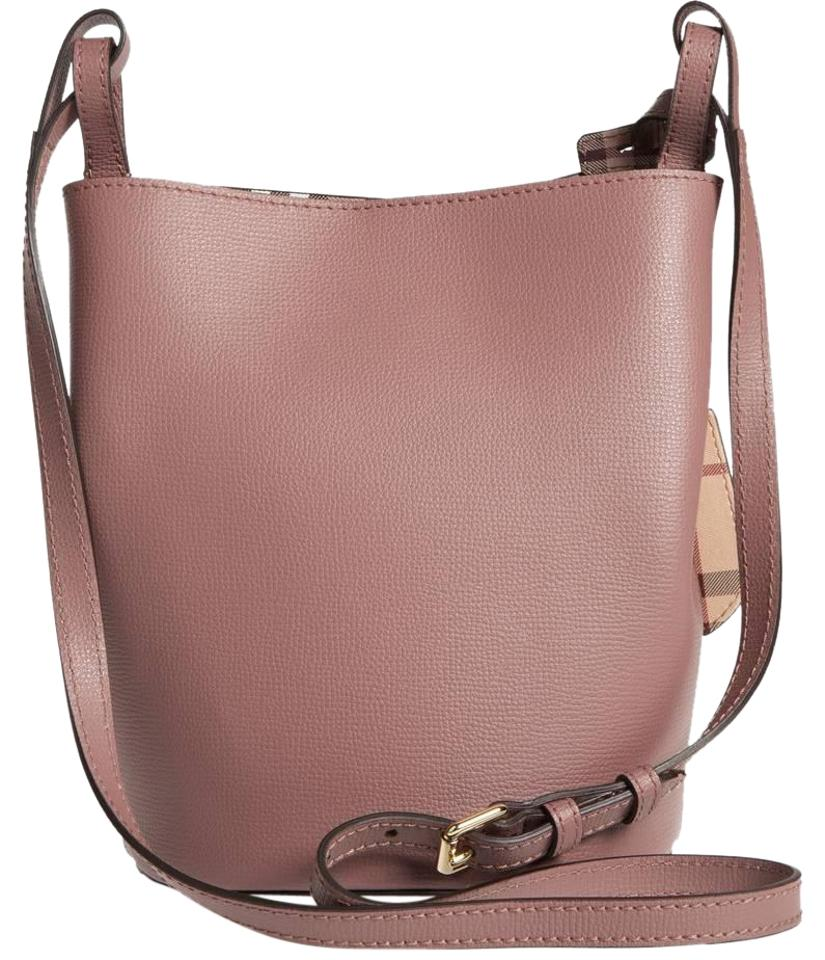 d52dead0bfb8 Burberry Small Lorne Shoulder Bucket Pink Leather Cross Body Bag ...