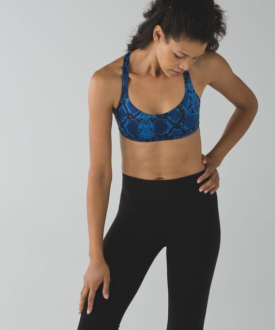 0acff4804c Lululemon Blue Athletica Free To Be Wild Activewear Sports Bra Size ...