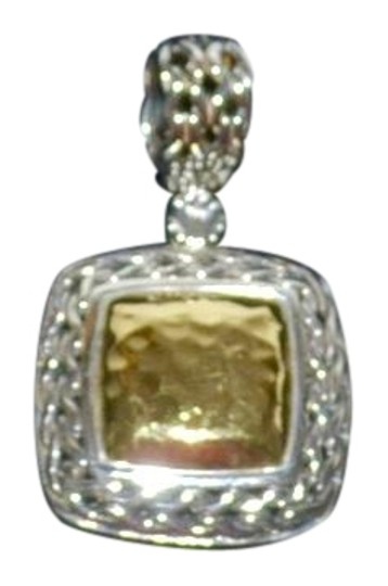 Preload https://item4.tradesy.com/images/john-hardy-gold-and-sterling-palu-square-hammered-silver-pendant-necklace-23333173-0-1.jpg?width=440&height=440