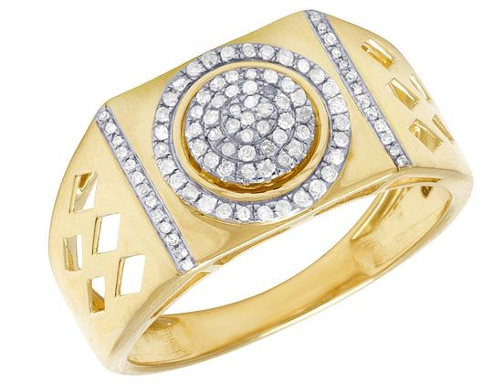 Preload https://img-static.tradesy.com/item/23333192/jewelry-unlimited-10k-yellow-gold-genuine-diamond-pinky-026ct-12mm-ring-0-0-540-540.jpg