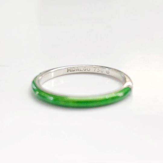 Hidalgo Hidalgo 18k and Ceramic Bright Green Stackable Ring
