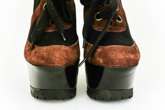 Burberry Leather Wedge Runway Brown Sandals