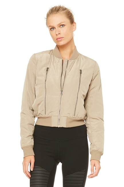 Item - Light Taupe Off Duty Bomber Activewear Outerwear Size 12 (L)