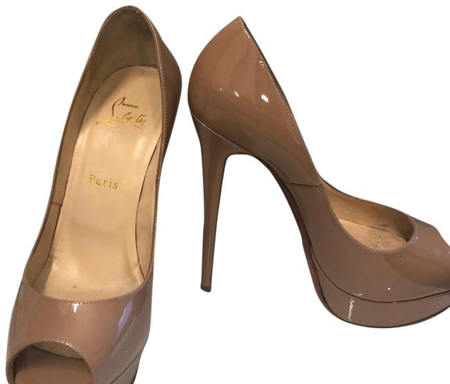 Christian Louboutin Nude Clare Sling 80 Patent Leather