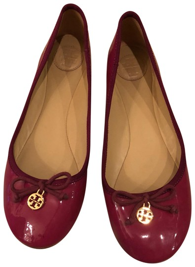 Preload https://item1.tradesy.com/images/tory-burch-pink-and-gold-patent-ballet-flats-size-us-8-regular-m-b-23333345-0-1.jpg?width=440&height=440