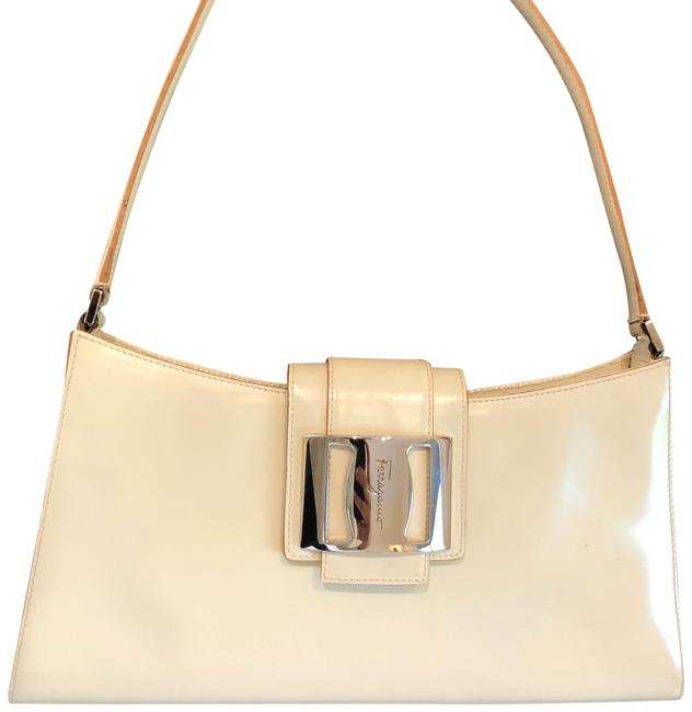 Salvatore Ferragamo Cream/Ivory Leather Shoulder Bag Salvatore Ferragamo Cream/Ivory Leather Shoulder Bag Image 1