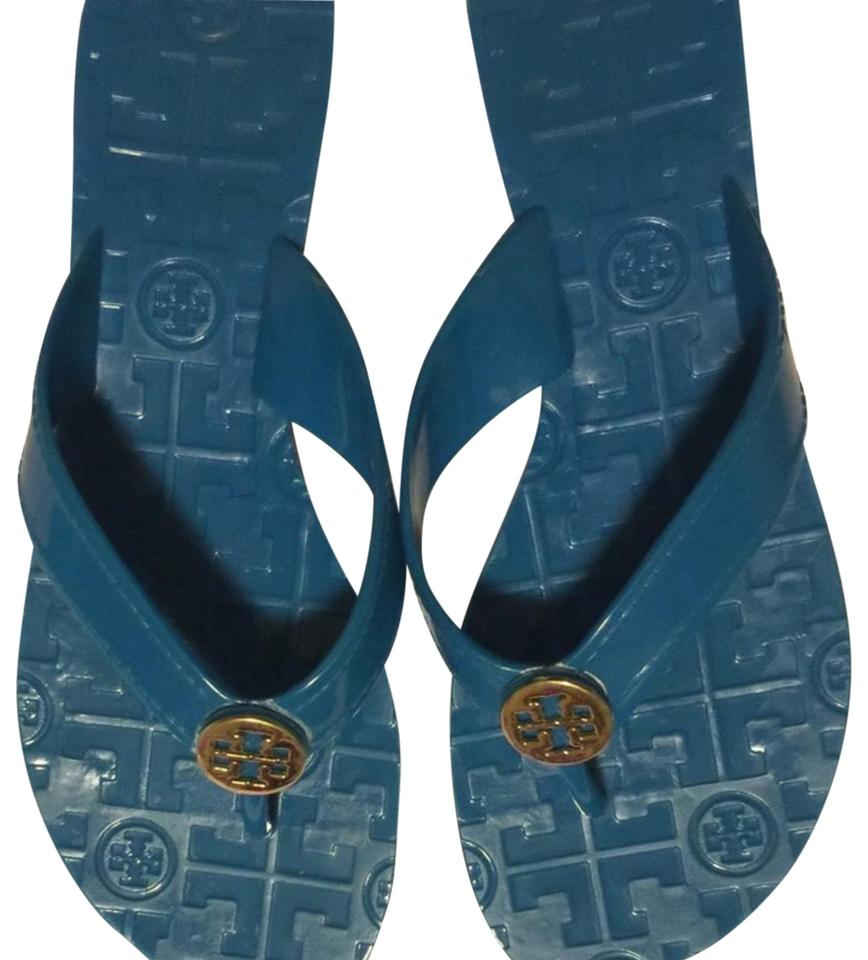 252c1ebf835 Tory Burch Blue Jelly Sandals Size US 6.5 Narrow (Aa