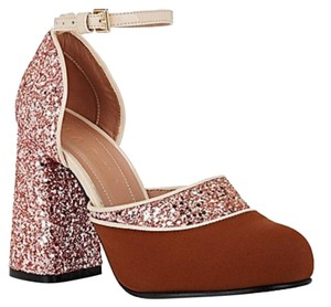 Marni Brown/Pink/Beige. Pumps