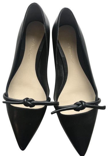 3.1 Phillip Lim Ballet Pointed Toe Leather black Flats