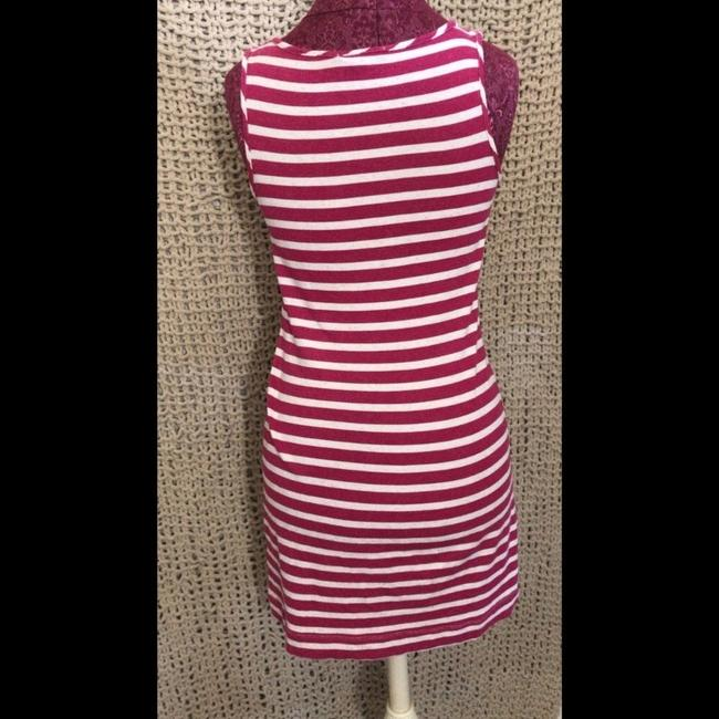 Anthropologie short dress red/pink/white on Tradesy