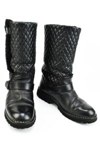 Chanel Black Quilted Leather & Boots
