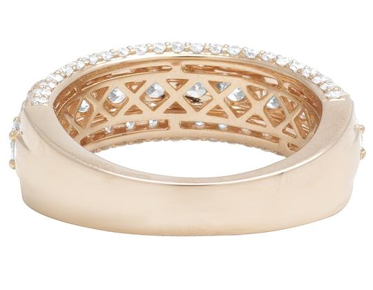 Jewelry Unlimited 14K Rose Gold Three Row Diamond Band Ring 3.5Ct 8mm