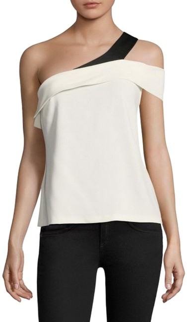 Preload https://img-static.tradesy.com/item/23333427/ramy-brook-creamblack-luca-one-shoulder-night-out-top-size-4-s-0-1-650-650.jpg