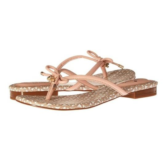 Kate Spade Bow Decoration Leather Pink Salmon Sandals