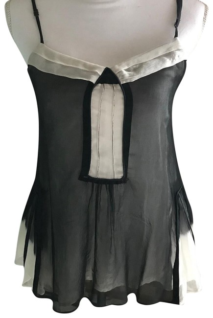 Preload https://img-static.tradesy.com/item/23333465/lamb-black-and-ivory-silk-spring-2009-collection-tank-topcami-size-4-s-0-1-650-650.jpg