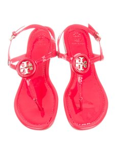 cd7459a19ac6 Tory Burch Carnival Red Savannah 45mm Soho Lux Suede Wedge Sandals.   150.00. US 8. On Sale. Tory Burch Dillan Thong Logo Red Sandals