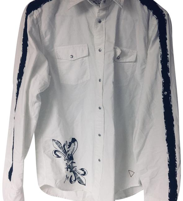 Preload https://item4.tradesy.com/images/guess-white-men-s-long-or-short-sleeves-shirt-button-down-top-size-os-one-size-23333533-0-1.jpg?width=400&height=650