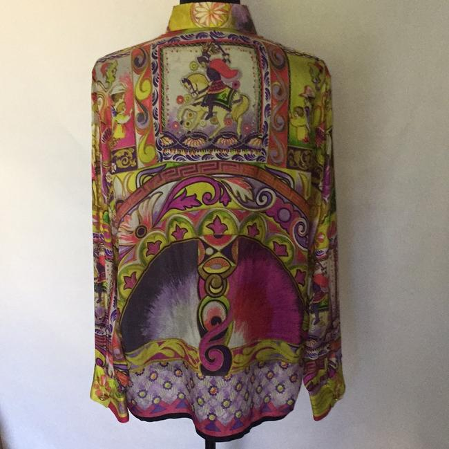 Versace Top Brilliant Silk Multi Color