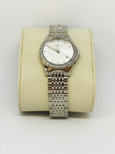 Gucci 0.70ct Gucci Women's YA126501 G-timeless Stainless Steel Watch