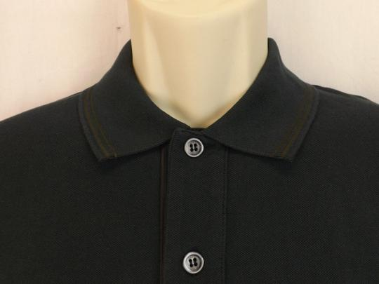 Gucci Bottle Green Cotton Web Stripe Logo Polo Xxl # 387923 Italy Shirt