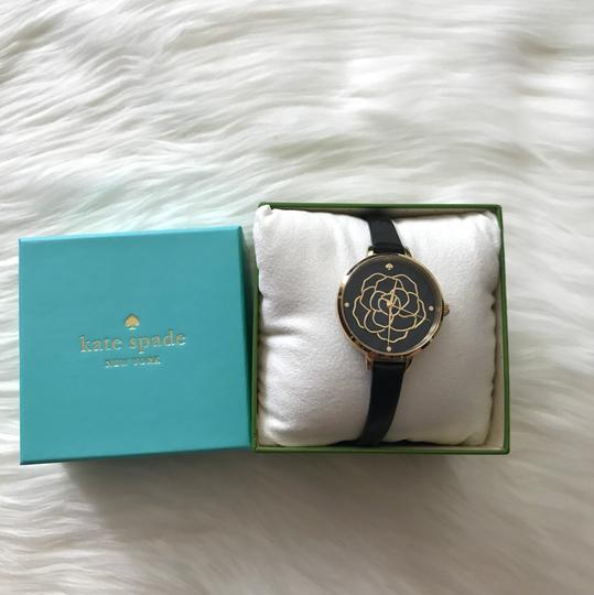 Kate Spade Brand New Women's Metro Black Leather Strap Watch