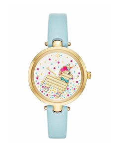 Kate Spade Brand New gold-tone and light blue leather holland watch KSW1182