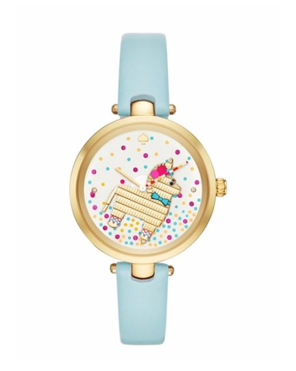 Preload https://item4.tradesy.com/images/kate-spade-light-blue-gold-gold-tone-and-leather-holland-ksw1329-watch-23333673-0-1.jpg?width=440&height=440