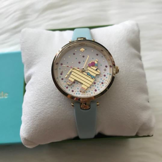 Kate Spade Brand New gold-tone and light blue leather holland watch KSW1329