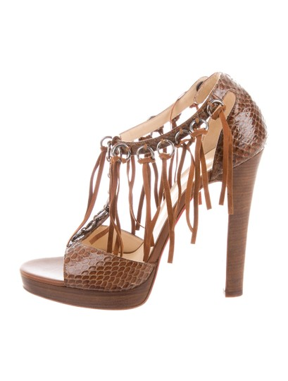 Christian Louboutin Pumps Fringe Sandals