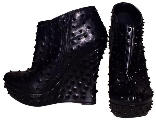 Preload https://img-static.tradesy.com/item/23333692/colin-stuart-black-studded-wedge-bootsbooties-size-us-9-regular-m-b-0-1-540-540.jpg