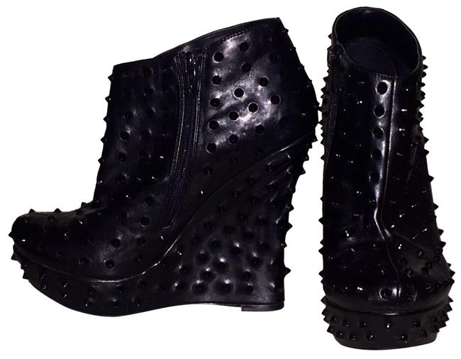 Colin Stuart Black Studded Wedge Boots/Booties Size US 9 Regular (M, B) Colin Stuart Black Studded Wedge Boots/Booties Size US 9 Regular (M, B) Image 1
