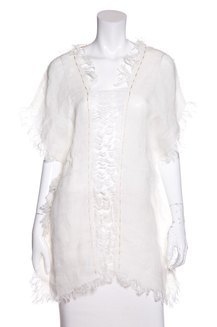 Preload https://item5.tradesy.com/images/white-fringe-tunic-size-os-one-size-23333729-0-0.jpg?width=400&height=650