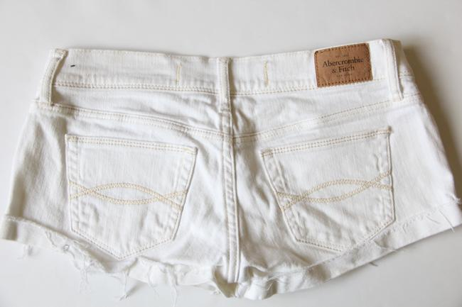 Abercrombie & Fitch Frayed Cut Off Shorts Off White
