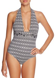 Heidi Klum Heidi Klum Kiss by The Sea Geo Print One Piece Swimsuit, S